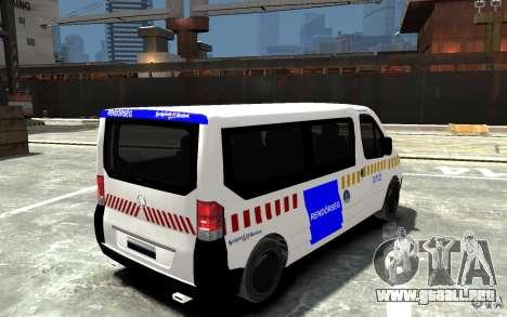 Opel Vivaro Hungarian Police Van para GTA 4 visión correcta