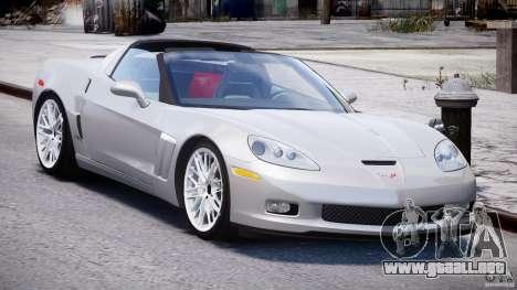 Chevrolet Corvette Grand Sport 2010 v2.0 para GTA 4 vista hacia atrás