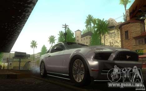 Ford Mustang GT V6 2011 para GTA San Andreas vista hacia atrás