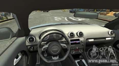 Audi S3 2009 para GTA 4 visión correcta