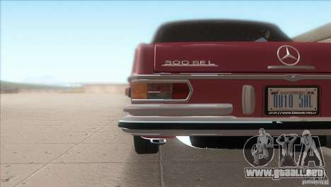 Mercedes-Benz 300 SEL para la vista superior GTA San Andreas