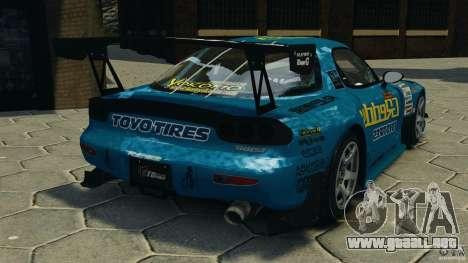 Mazda RX-7 RE-Amemiya para GTA 4 Vista posterior izquierda
