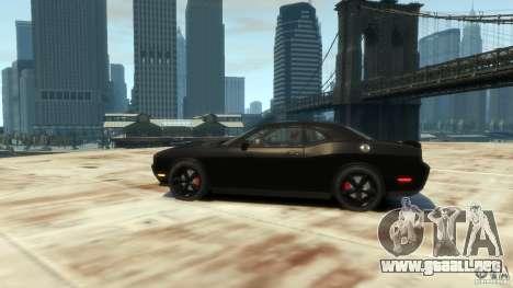 Dodge Challenger SRT8 para GTA 4 Vista posterior izquierda