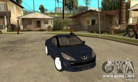 Peugeot RCZ 2011 para GTA San Andreas vista hacia atrás