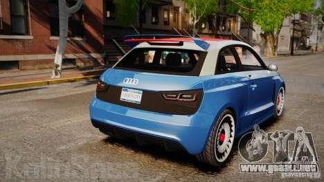 Audi A1 Quattro para GTA 4 Vista posterior izquierda
