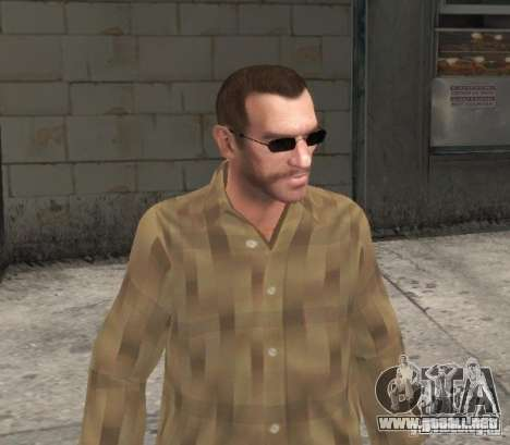 Nuevas gafas de Niko-negro para GTA 4 tercera pantalla