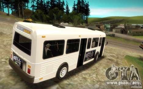 NFS Undercover Bus para GTA San Andreas left