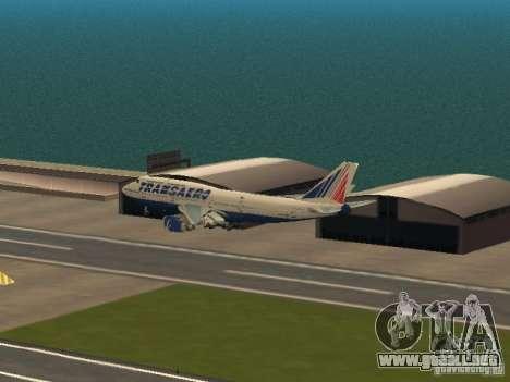 Boeing 747-400 para vista lateral GTA San Andreas