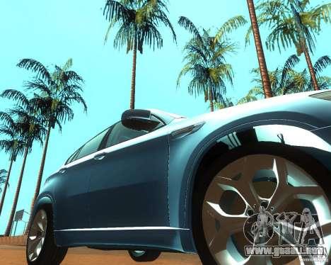 BMW Motorsport X6 M v. 2.0 para GTA San Andreas vista hacia atrás