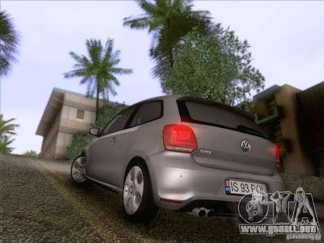 Volkswagen Polo GTI 2011 para GTA San Andreas vista hacia atrás
