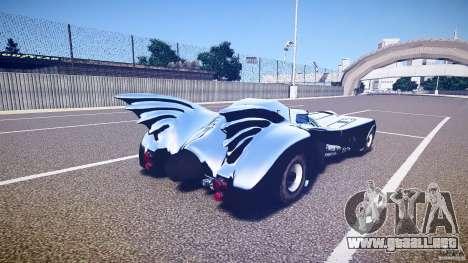 Batmobile v1.0 para GTA 4 vista superior