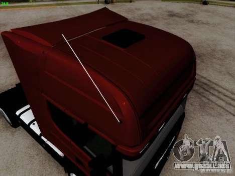 Scania R580 V8 Topline para la visión correcta GTA San Andreas