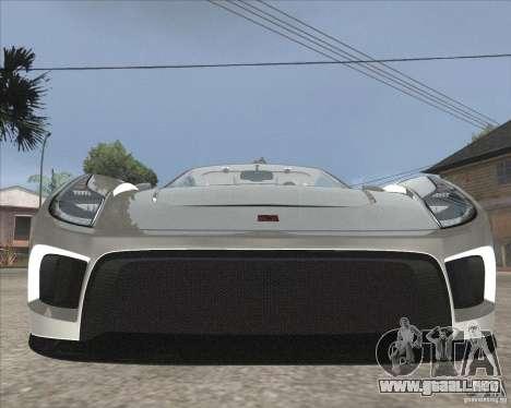 Saleen S5S Raptor para GTA San Andreas vista hacia atrás