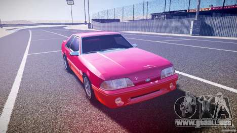 Ford Mustang GT 1993 Rims 2 para GTA 4 vista hacia atrás