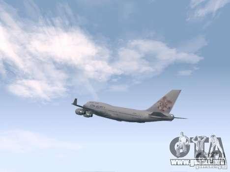 Boeing 747-400 China Airlines para la visión correcta GTA San Andreas