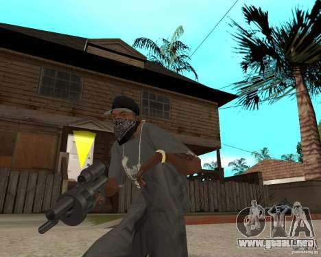 Shotgun in style revolver para GTA San Andreas tercera pantalla