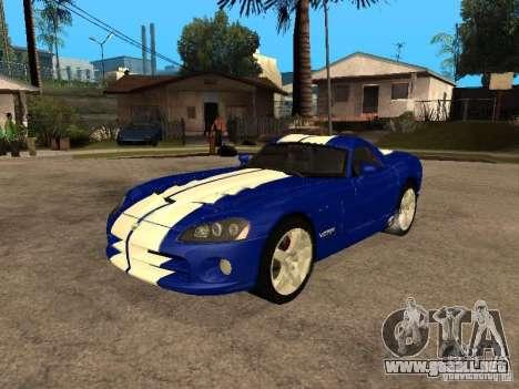 Dodge Viper Coupe 2008 para visión interna GTA San Andreas