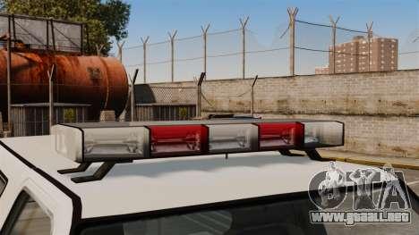 Policía ranchero ELS para GTA 4 vista hacia atrás
