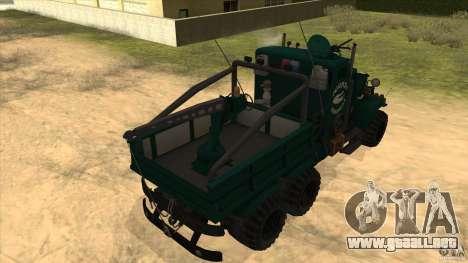 KrAZ 255 B1 Krazy-cocodrilo para GTA San Andreas vista hacia atrás