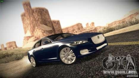 Jaguar XJ 2010 V1.0 para la visión correcta GTA San Andreas