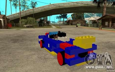 LEGO móvil para GTA San Andreas vista posterior izquierda