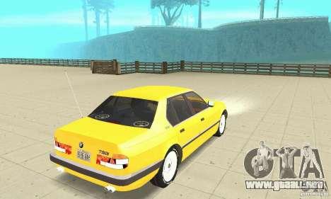 BMW 750I E32 para GTA San Andreas left