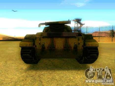 Tanque juego S. T. A. L. k. e. R para GTA San Andreas vista posterior izquierda