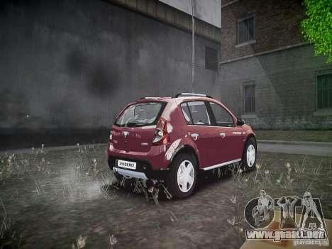 Dacia Sandero Stepway para GTA 4 vista hacia atrás