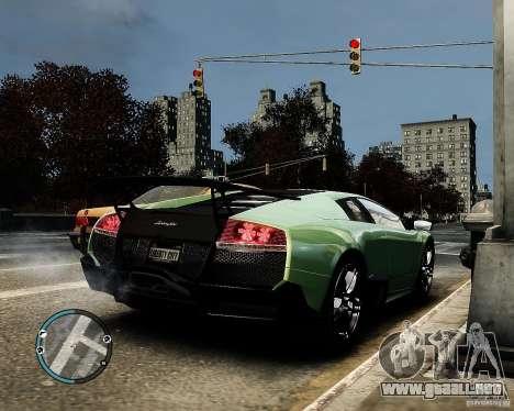 Lamborghini Murcielago LP 670-4 SuperVeloce 2010 para GTA 4 Vista posterior izquierda
