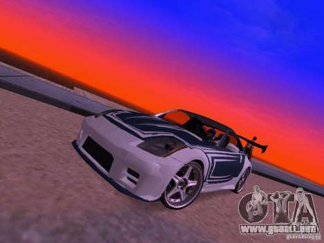 Nissan 350z Tea Hair para GTA San Andreas