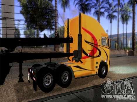 Freightliner Argosy Skin 2 para GTA San Andreas vista posterior izquierda