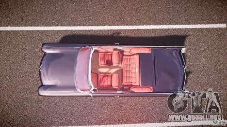 Cadillac Eldorado 1959 interior red para GTA 4 vista hacia atrás