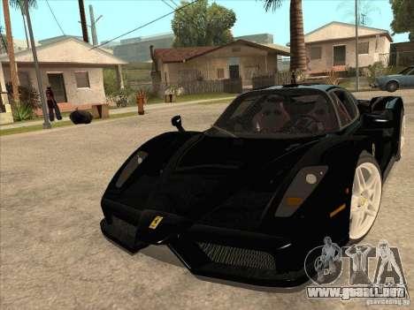 Ferrari Enzo 2010 para GTA San Andreas vista hacia atrás