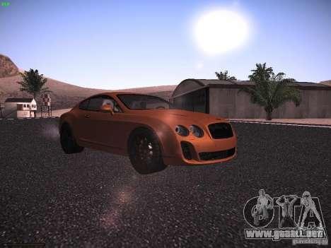 Bentley Continetal SS Dubai Gold Edition para GTA San Andreas left