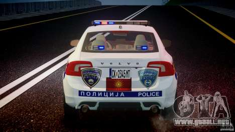 Volvo S60 Macedonian Police [ELS] para GTA 4 interior