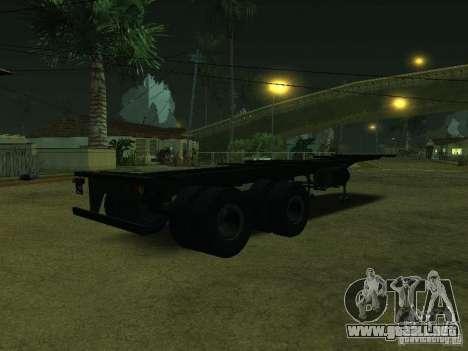 Envase portador + Sovtransavto para GTA San Andreas vista posterior izquierda