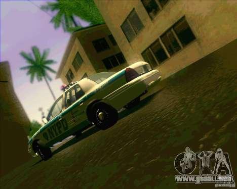 Ford Crown Victoria 2003 NYPD police V2.0 para visión interna GTA San Andreas