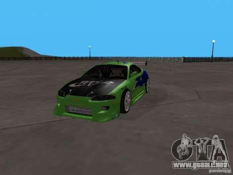 Mitsubishi Eclipse Tunable para GTA San Andreas vista hacia atrás