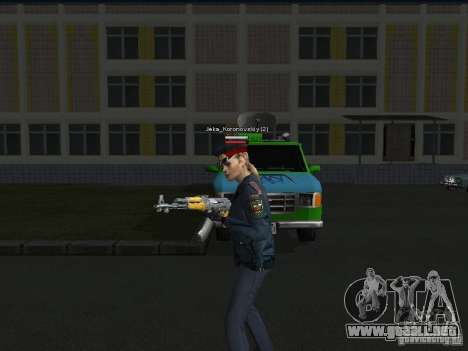 Pieles de milicia para GTA San Andreas tercera pantalla