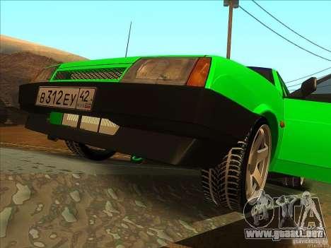 VAZ 2109 invierno para GTA San Andreas vista hacia atrás
