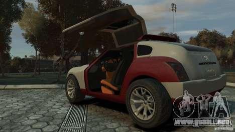 Infiniti Triant Concept para GTA 4 Vista posterior izquierda