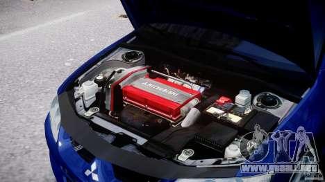 Mitsubishi Lancer Evolution VIII para GTA 4 vista hacia atrás