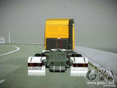 Mercedes-Benz Actros Rosneft para GTA San Andreas vista hacia atrás