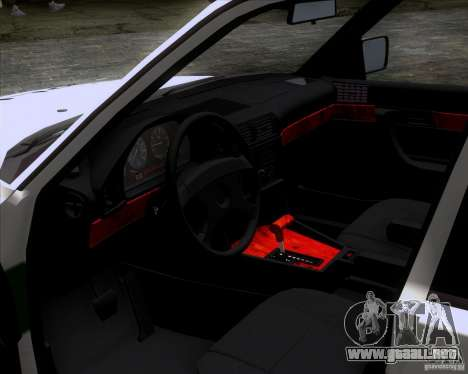 BMW E34 Policija para la visión correcta GTA San Andreas