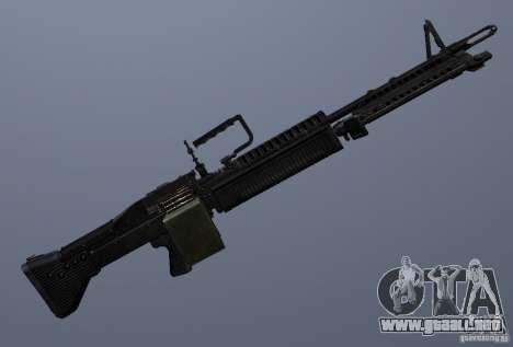 M60 para GTA San Andreas quinta pantalla