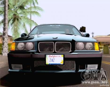 BMW M3 E36 New Wheels para la vista superior GTA San Andreas