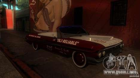 Chevy Impala SS 1961 para GTA San Andreas left