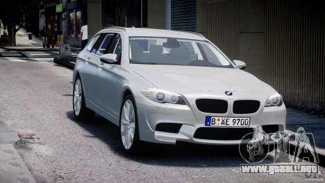 BMW M5 F11 Touring para GTA 4 vista hacia atrás