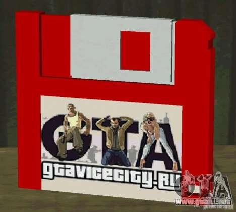 Nuevo disco HD excepto para GTA San Andreas tercera pantalla