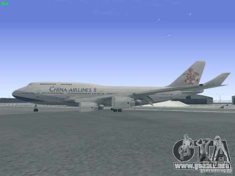 Boeing 747-400 China Airlines para GTA San Andreas left